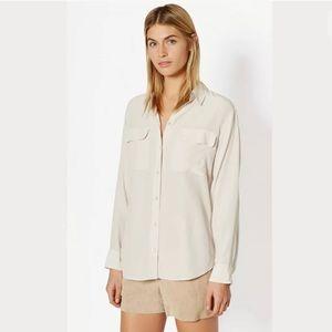 Equipment Femme Ivory Signature 100% Silk Blouse M
